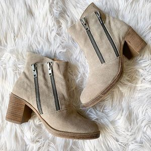 MTNG Bea Suede Double Zipper Chunky Ankle Boot 39